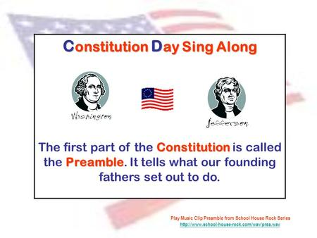 Constitution Day Sing Along