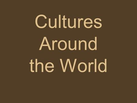 Cultures Around the World. American Holidays Fourth of July Christmas Halloween New Years Easter.