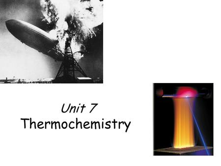 Unit 7 Thermochemistry.