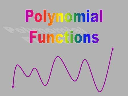 Polynomial Functions.
