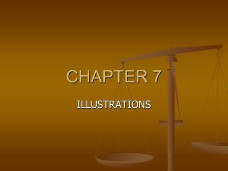 CHAPTER 7 ILLUSTRATIONS. Objective Students will learn what illustration writing is Students will understand how to use illustration in their writing.