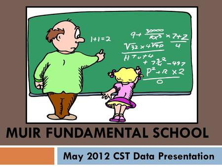 MUIR FUNDAMENTAL SCHOOL May 2012 CST Data Presentation.