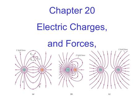 Chapter 20 Electric Charges, and Forces,.