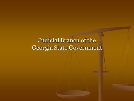 Judicial Branch of the Georgia State Government