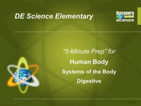 """5-Minute Prep"" for Human Body Systems of the Body Digestive"