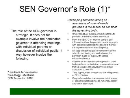 SEN Governor's Role (1)*
