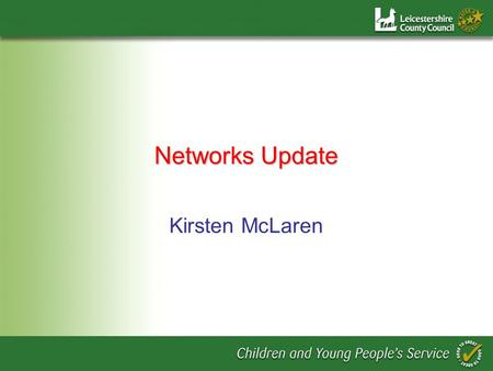 Networks Update Kirsten McLaren. Overview Networking – Whats it all about? Benefits and barriers So what can we do?