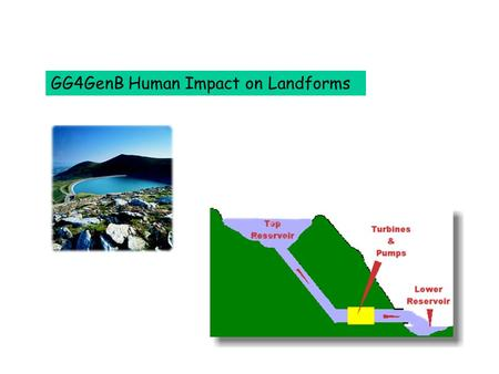 GG4GenB Human Impact on Landforms The visual impact of ski runs on the landscape – some tree removal.