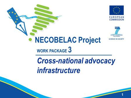 1 NECOBELAC Project WORK PACKAGE 3 Cross-national advocacy infrastructure.