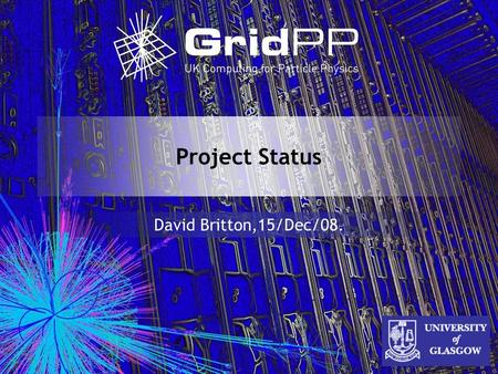 Project Status David Britton,15/Dec/08.. 2 Outline Programmatic Review Outcome CCRC08 LHC Schedule Changes Service Resilience CASTOR Current Status Project.