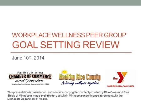 Workplace Wellness Peer Group Goal Setting REVIEW