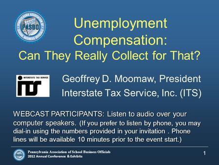 PASBO Unemployment Comp Ppt Download