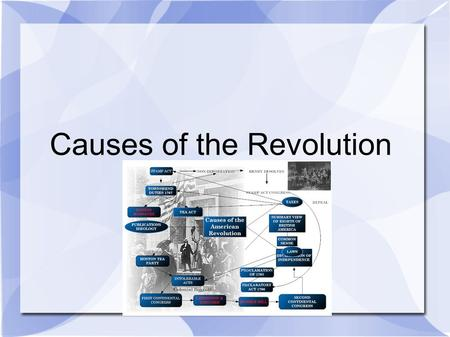 Causes of the Revolution. Seven Years War (1756-63) After 1763 the 13 American colonies became increasingly dissatisfied with British rule. There were.