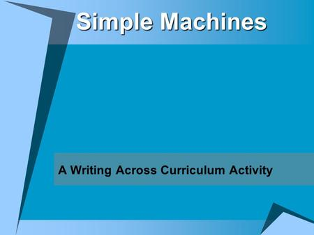A Writing Across Curriculum Activity