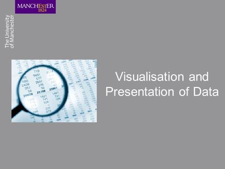 Visualisation and Presentation of Data. What is the Extended Project Qualification? The extended project covers many different formats of projects, for.