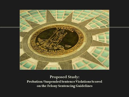 Proposed Study: Probation/Suspended Sentence Violations Scored on the Felony Sentencing Guidelines.