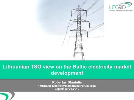 Regulatory Challenges In The Baltic Electricity Market S