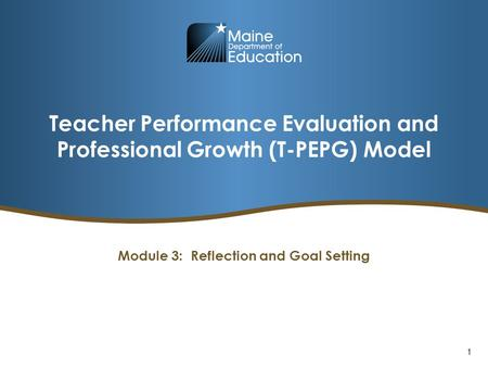 Teacher Performance Evaluation and Professional Growth (T-PEPG) Model