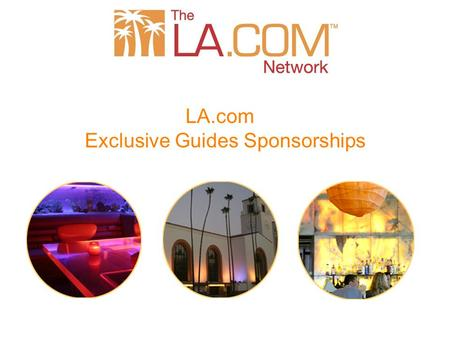 LA.com Exclusive Guides Sponsorships. Los Angeles Newspaper Group 8 newspaper web sites in Southern California Impactousa.com 12 Million + Page Views/month.