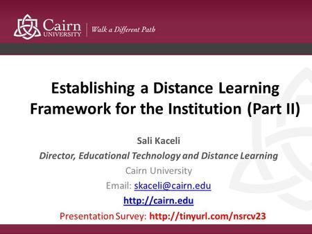 Diane Ruiz Cairns, MBA, Ed S  - ppt video online download
