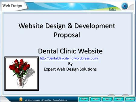 Website Design & Development Proposal Dental Clinic Website By Expert Web Design Solutions  All rights reserved –