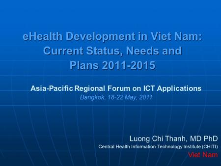 Asia-Pacific Regional Forum on ICT Applications