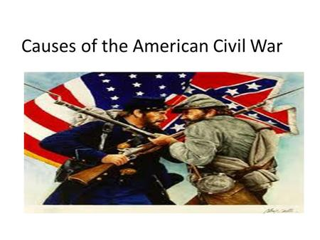 Causes of the American Civil War. The Missouri Compromise of 1820 The U.S. needs a balance of Free and Slave States. Why? Henry Clay (The Great Compromiser)