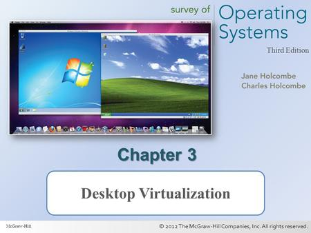 © 2012 The McGraw-Hill Companies, Inc. All rights reserved. 1 Third Edition Chapter 3 Desktop Virtualization McGraw-Hill.