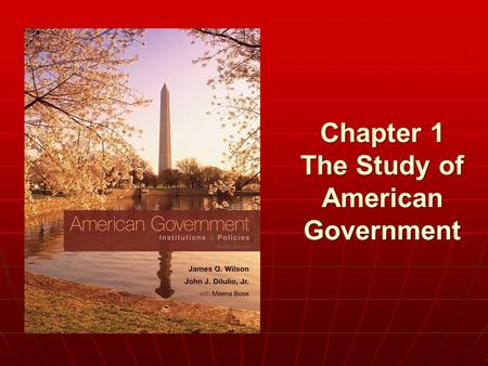 Chapter 1 The Study of American Government. Copyright © 2011 Cengage WHO GOVERNS? WHO GOVERNS? 1. How is political power actually distributed in America?