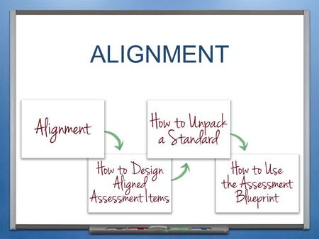 ALIGNMENT. INTRODUCTION AND PURPOSE Define ALIGNMENT for the purpose of these modules and explain why it is important Explain how to UNPACK A STANDARD.