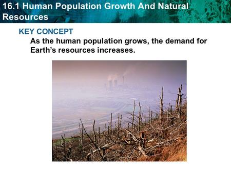 Objectives Summarize the current state and effects of human population growth Explain the importance of effective resource management.