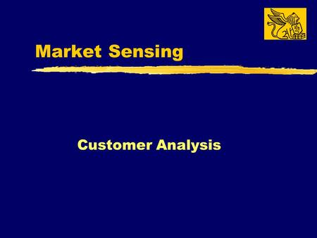 Market Sensing Customer Analysis. What Do We Need to Know About Our Customers?  Everything!! How they make decisions… What influences how they make decisions...