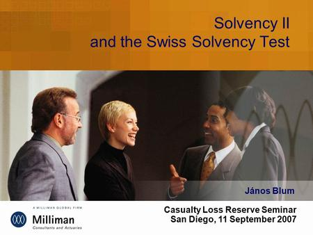 Solvency II and the Swiss Solvency Test