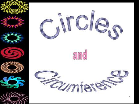 1. 2 Circle A circle is the set of all points that are the same distance from a given point called the center.