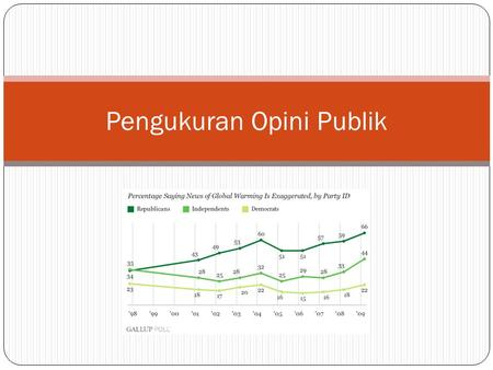 Pengukuran Opini Publik. Survey Research Survey research is a technique that well designed for assessing the prevalence and distribution of attitudes,