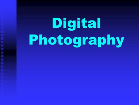 Digital Photography. ISO Light Sensitivity.