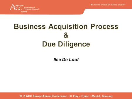 Business Acquisition Process Implementation & transition Closing Negotiation of the transaction Due Diligence Engagement TargetIdentification.