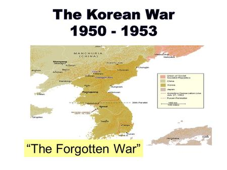 The Korean War WALT What Are We Learning Today What Were