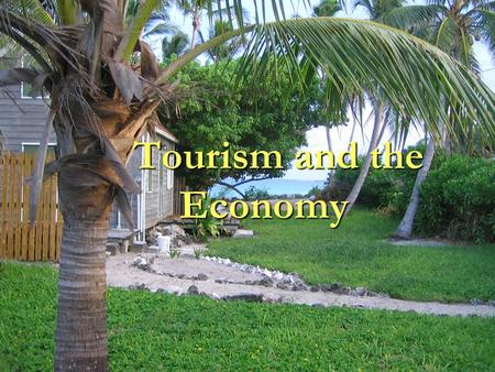 Tourism and the Economy. Tourism and the Global Economy Tourism has become one of the fastest growing economic industries in the world and has become.