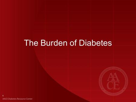 The Burden of Diabetes.
