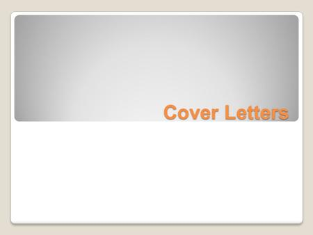Cover Letters. Cover letters Cover letter: A cover letter is a document sent with your resume to provide additional information on your skills and experience.