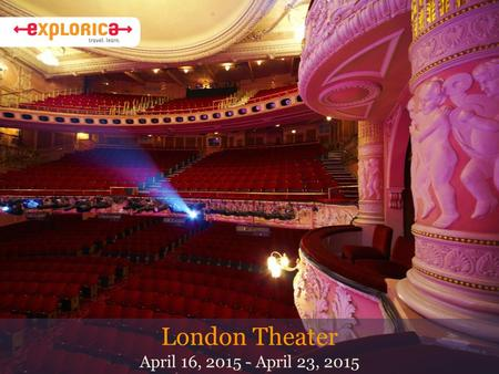 London Theater April 16, 2015 - April 23, 2015. Why Do I Travel? About Mr. Bail I've been teaching English at ELHS since 1992. After teaching English.