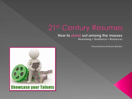 A video resume is a short video created by a candidate for employment and uploaded to the Internet for prospective employers to review. The video resume.