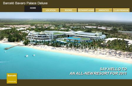Barceló Bavaro Palace Deluxe SAY HELLO TO AN ALL-NEW RESORT FOR 2011 SAY HELLO TO AN ALL-NEW RESORT FOR 2011.