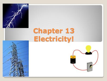 Chapter 13 Electricity!. Quick review: Conductors Insulators Like charges ___________ and unlike charges _____________. Repel Attract.