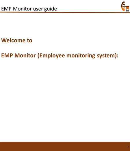 EMP Monitor (Employee monitoring system):