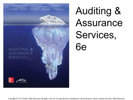 Auditing & Assurance Services, 6e