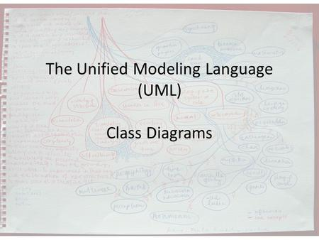 The Unified Modeling Language (UML) Class Diagrams.