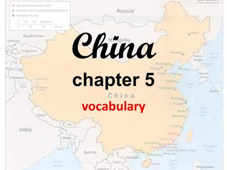 China chapter 5 vocabulary. Mandate of Heaven An order to rule believed given to kings by the gods I will use the Mandate of Heaven to rule the world!