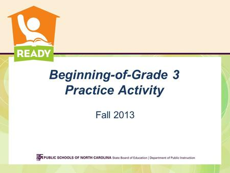 Beginning-of-Grade 3 Practice Activity Fall 2013.